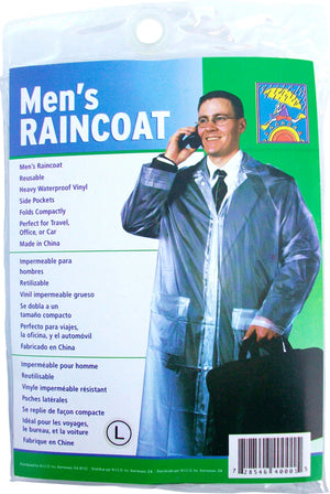 Wholesale Men's Heavyweight resuable Raincoat