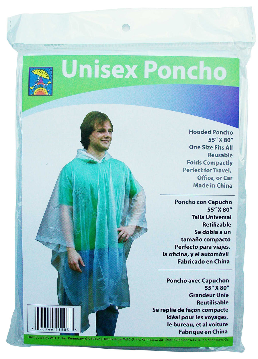 Wholesale Hooded Reusable Rain Poncho