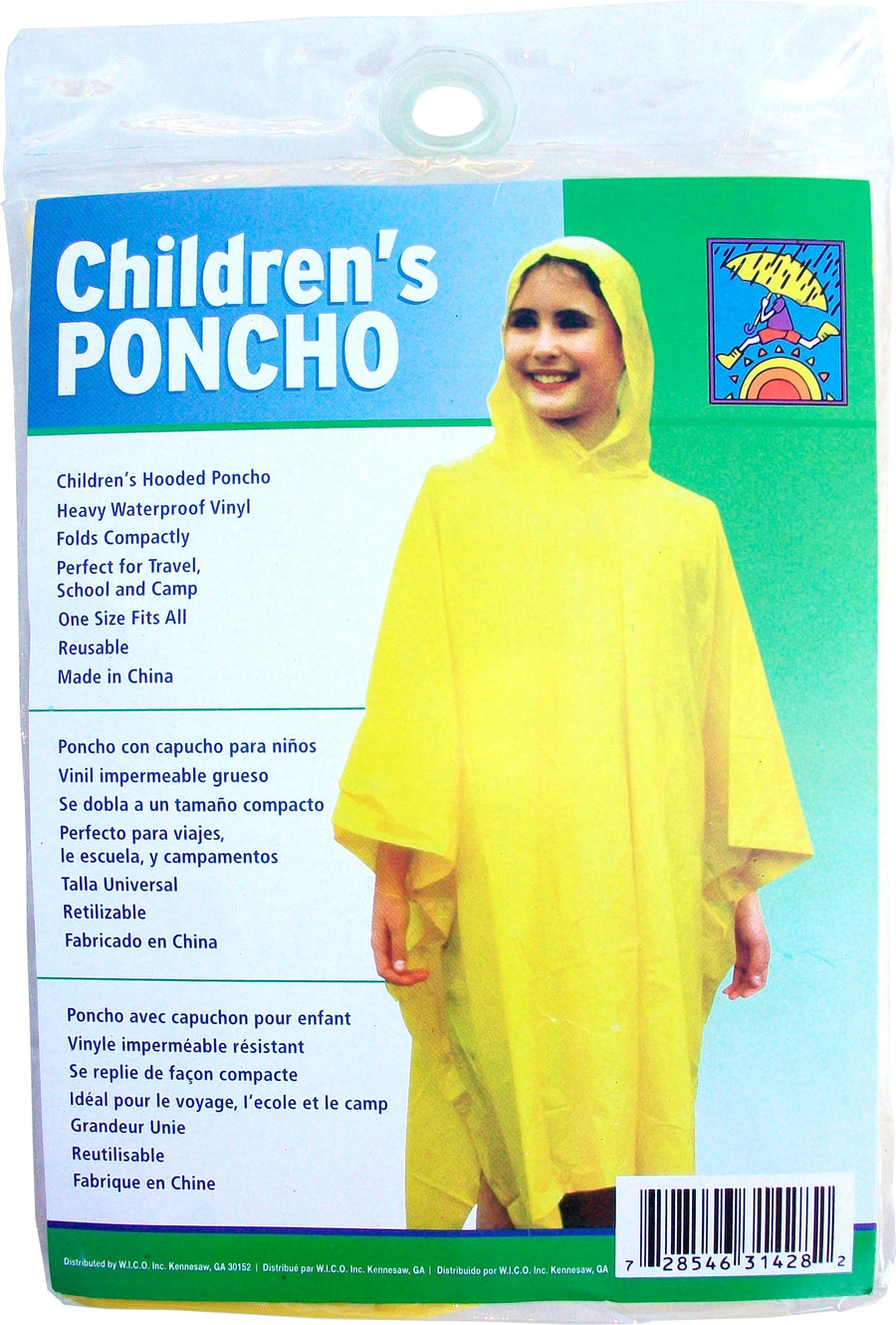 Wholesale Children's Reusable Waterproof Rain Poncho