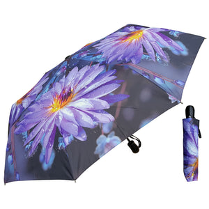Wholesale Fully Auto Big Flower print Folding Umbrella