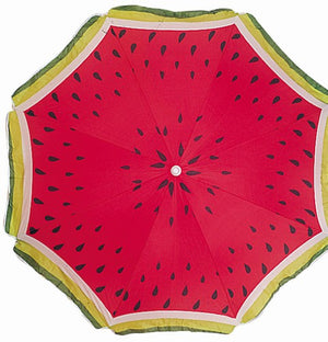 Wholesale Watermelon Print Beach Umbrella