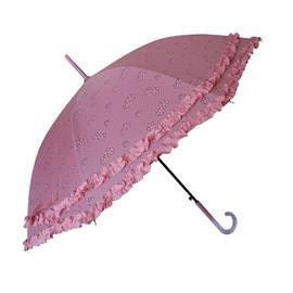 Wholesale Pink umbrella with double ruffles