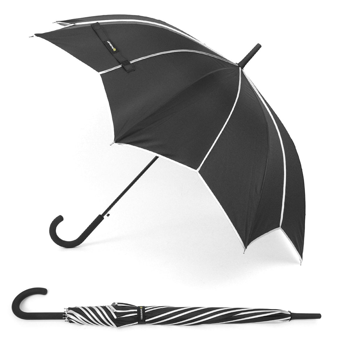 Wholesale Black & Silver Star Canopy Umbrella