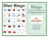 Dine Bingo Around the House