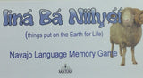 Navajo Language Memory Game - Iina Ba Niilyei (Things put on the Earth for Life)