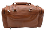 20 Inch Vintage Duffel Bag Travel Sports Gym Overnight Weekender Bag - Cognac