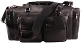 20 Inch Vintage Duffel Bag Travel Sports Gym Overnight Weekender Bag - Black