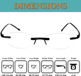 Fiore Rimless Computer Reading Glasses Blue Light Blocking Readers Lightweight TR90 Gaming Eyeglasses for Men and Women
