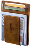Viosi RFID Men's Leather Magnetic Front Pocket Money Clip Wallet