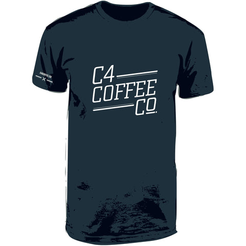 T Shirt C4 Coffee Co Mens  C4 Coffee Co.