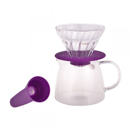 Hario v60 Glass Dripper & Pot