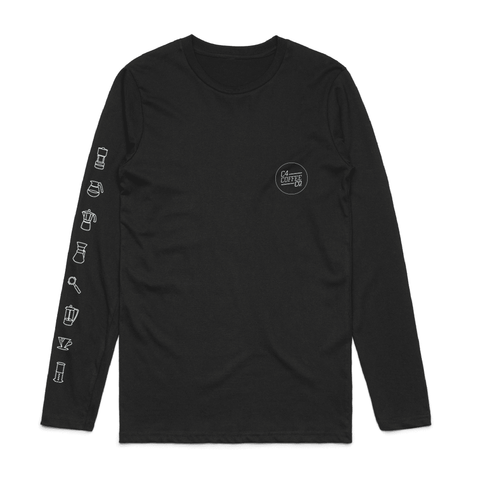 Long Sleeve T Shirt Icon Print Mens