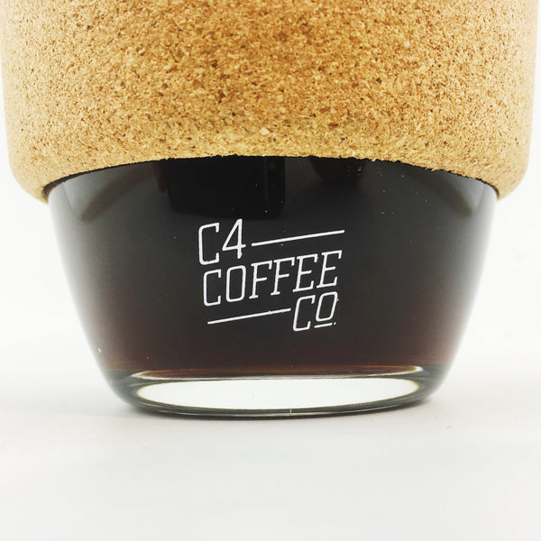 Keep Cup Brew Glass with Cork Band  C4 Coffee Co. - 2