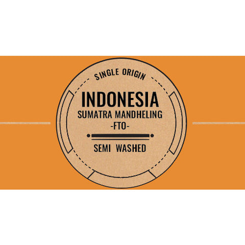 Indonesia: Sumatra -  Mandheling FTO (Semi Washed)  C4 Coffee Co.