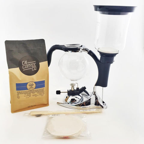 Syphon Brewer Package - SCA-5  C4 Coffee Co.
