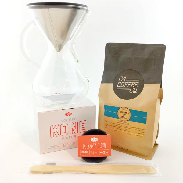 Chemex and Able Brewing Package - 6 Cup Glass Handle