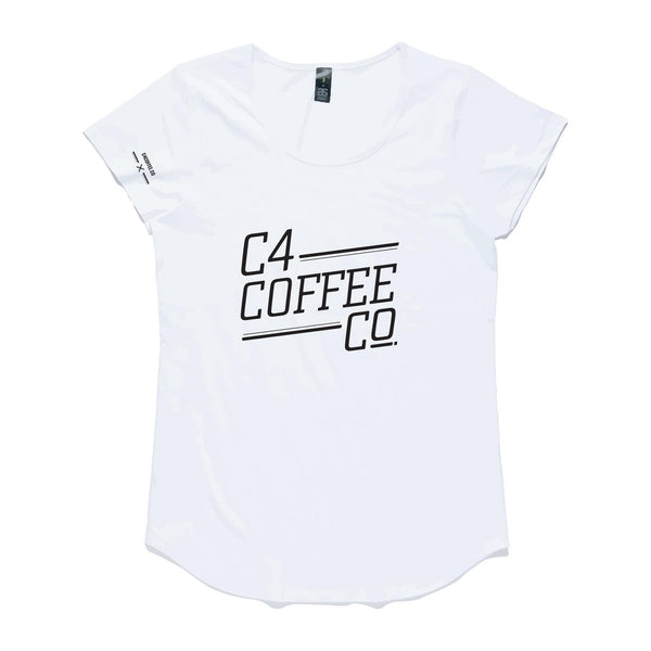 T Shirt C4 Coffee Co Womans