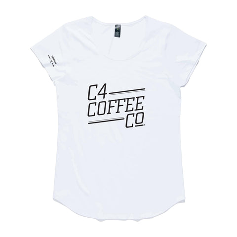 T Shirt C4 Coffee Co Womans  C4 Coffee Co. - 1