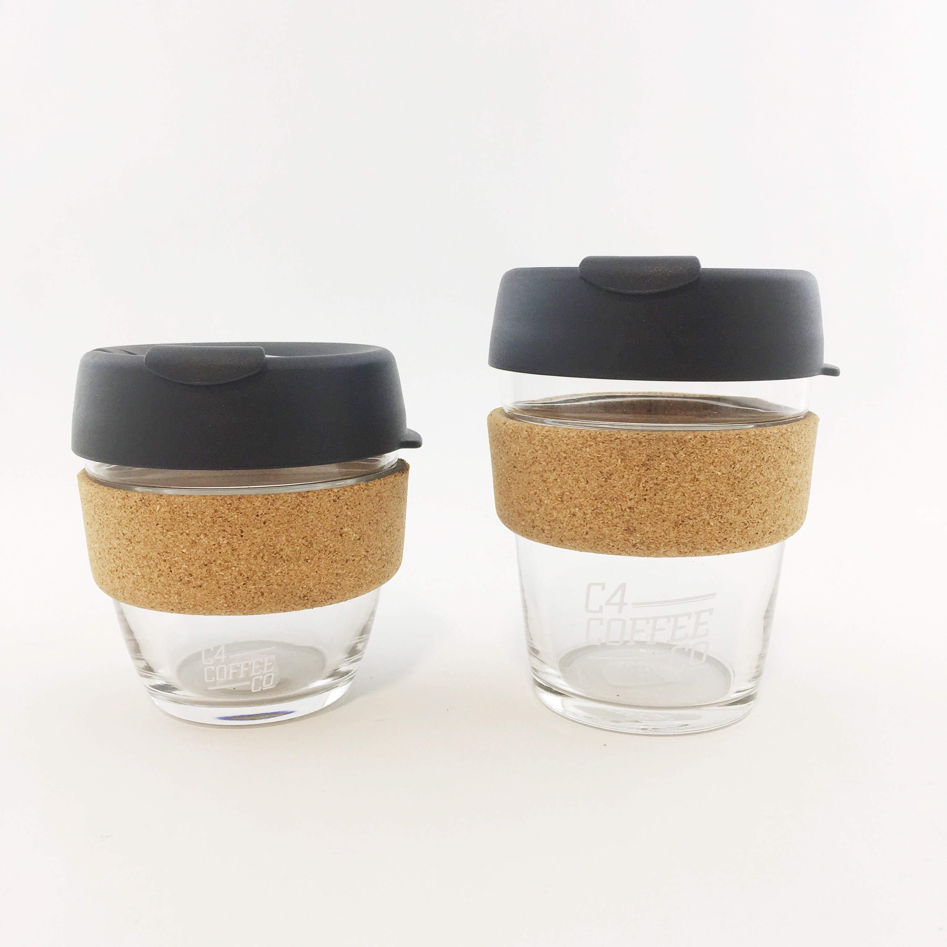 Keep Cup Brew Glass with Cork Band | C4 Coffee
