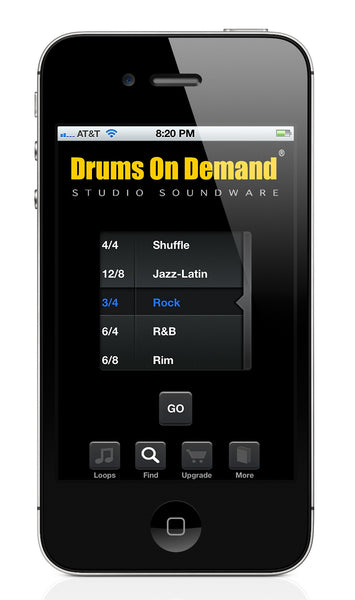 "Drum loop app ""Groove Bank"" from Drums On Demand"