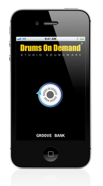 "The new ""Groove Bank"" drum loop iPhone app from Drums On Demand"