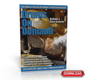 ballad drum loops on disc