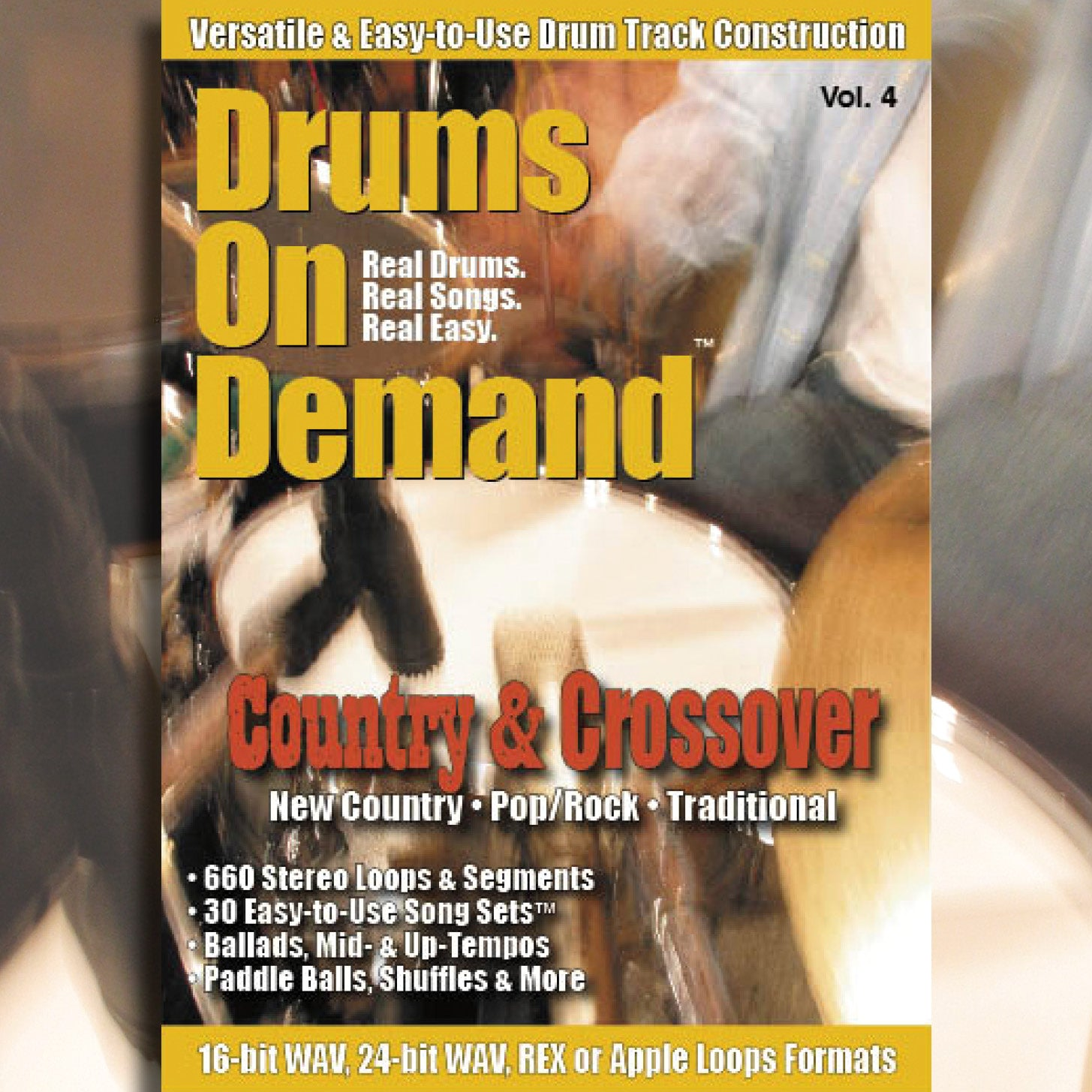 Country & Crossover Drum Loops