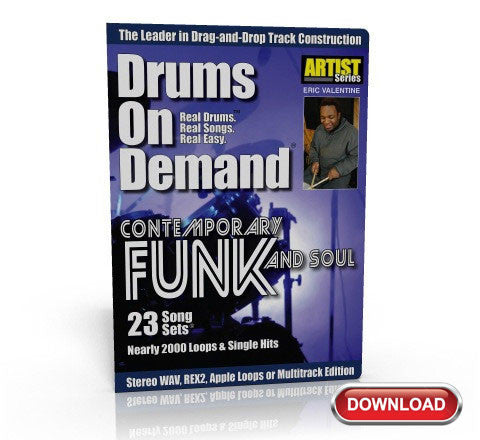 Contemporary Funk & Soul Drum Loops