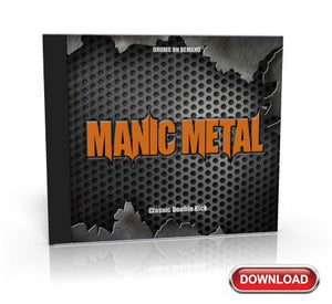 metal drum loops data CD