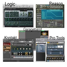 Load image into Gallery viewer, drum sampler, Reason NNXT, Pro Tools Structure, Kontakt, Logic ESX24, Garageband