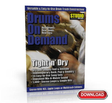 Tight 'N' Dry Drum Loops