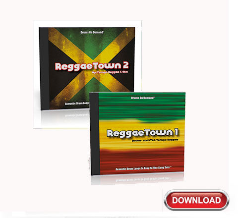 Reggae Drum Loops Bundle -- ReggaeTown Volumes 1 and 2