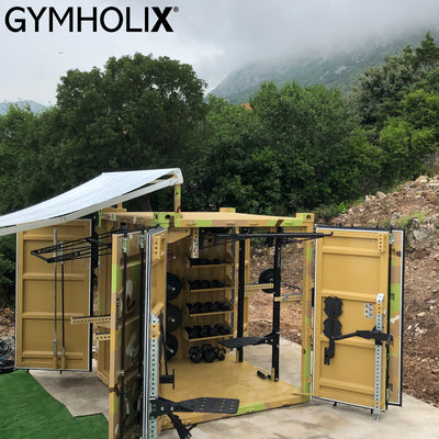 GYMHOLIX FASTBOX CUBE X - 3 DOOR PORTABLE OUTDOOR FUNCTIONAL FITNESS STATION CONTAINER CONEX