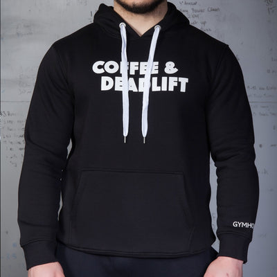 GYMHOLIX COFFEE AND DEADLIFT PRINTED MEN'S HOODIE