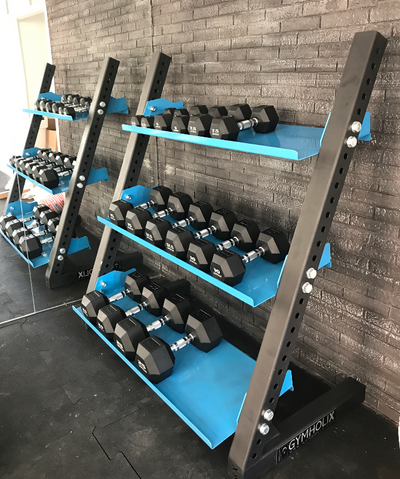 GYMHOLIX 3 TIER DUMBBELL STORAGE RACK