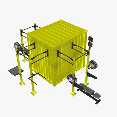 portable fitness tactical military container station conex