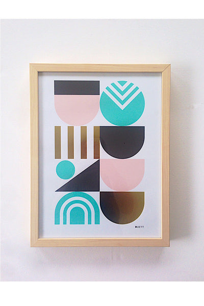 Deco Gold A3 (in natural wood frame)