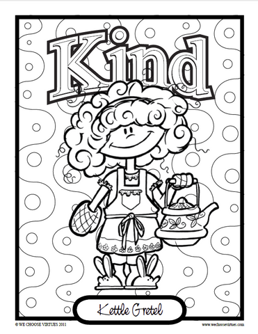 Kids of VirtueVille Coloring Pages PDF