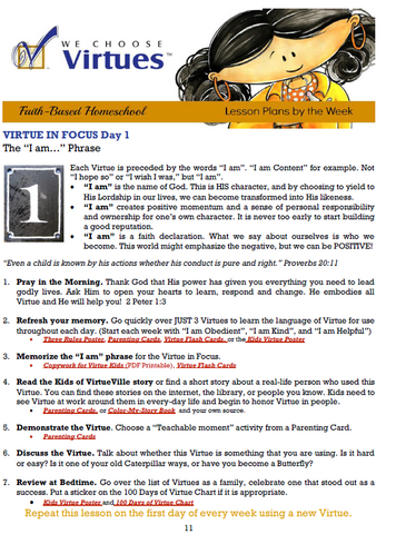 Homeschool Lesson Plans PDF