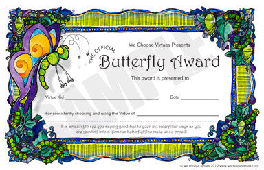 Butterfly Award PDF-with classroom license