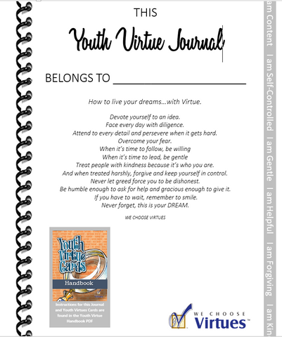 Youth Virtue Cards-with Classroom License