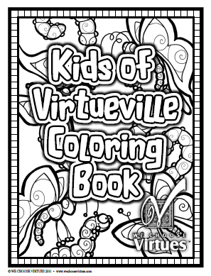Kids of VirtueVille Coloring Pages PDF-with classroom license