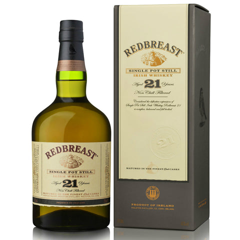 REDBREAST 21 YEARS SINGLE POT STILL IRISH WHISKEY | De Wine Spot