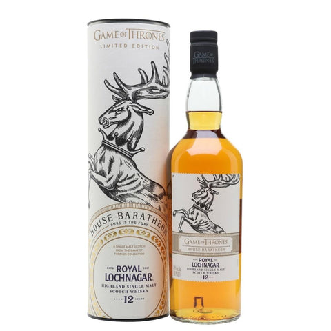"Game Of Thrones ""House Baratheon"" Royal Lochnagar 12-Year-Old Highland Single Malt Scotch Whisky"