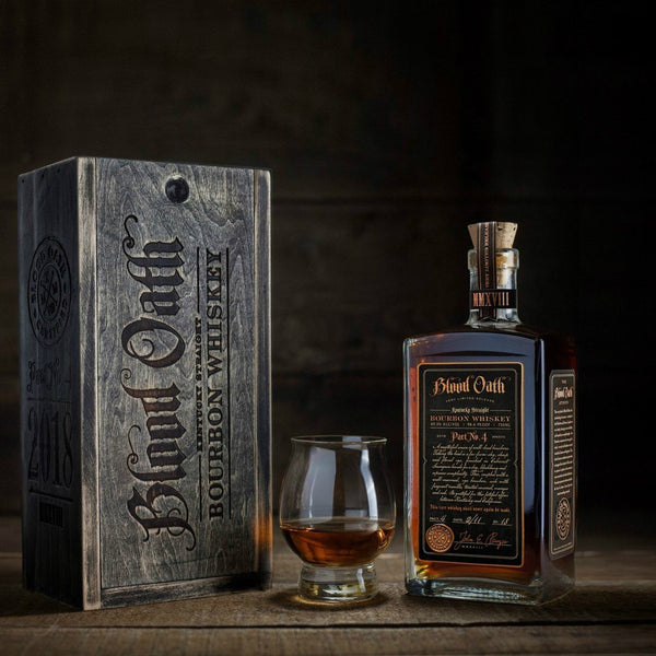 Blood Oath Kentucky Straight Bourbon Whiskey Pact No4 De Wine