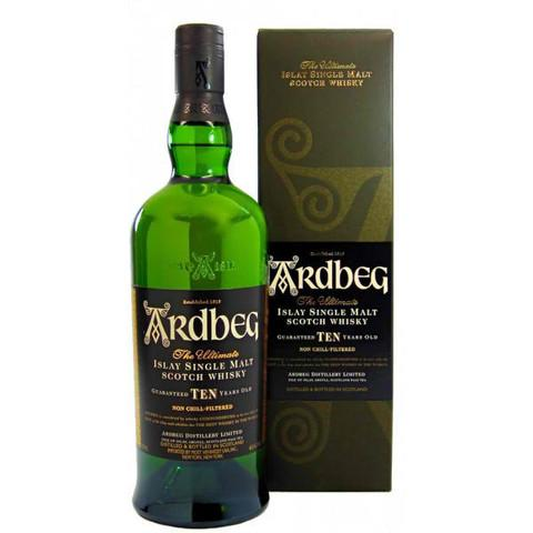 Ardbeg 10 Year Old Islay Single Malt Scotch Whisky | De Wine Spot - Curated Whiskey, Small-Batch Wines and Sakes