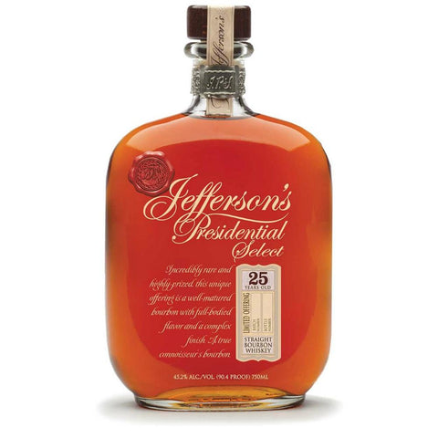 Jefferson's Presidential Select 25 Year Old Straight Bourbon Whiskey | De Wine Spot - Curated Whiskey, Small-Batch Wines and Sakes