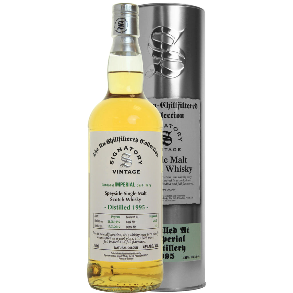 Imperial Hogshead 19 yrs Speyside Unchillfiltered Signatory Single Malt Scotch Whisky | De Wine Spot - Curated Whiskey, Small-Batch Wines and Sakes