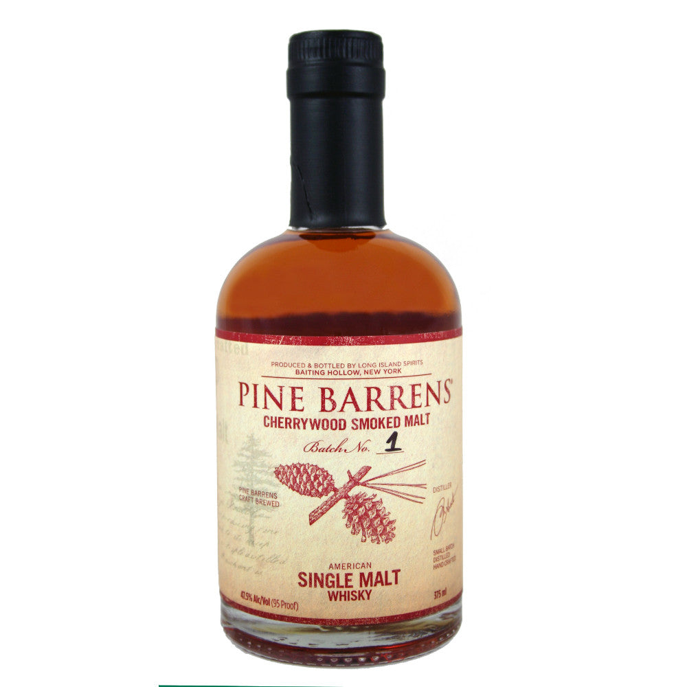 Pine Barrens Cherrywood Smoked Single Malt American Whisky | De Wine Spot - Curated Whiskey, Small-Batch Wines and Sakes