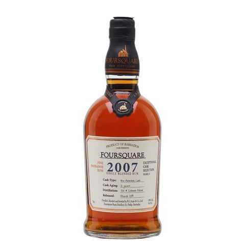"Foursquare Distillery Mark X ""2007"" 12 Year Old Exceptional Cask Selection Single Blended Rum - De Wine Spot 